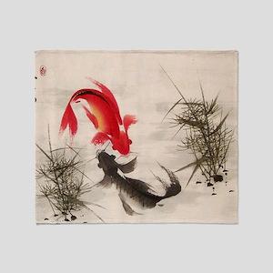 Koi fish Throw Blanket