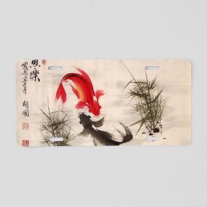 Koi fish Aluminum License Plate