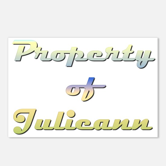 Property Of Julieann Female Postcards (Package of