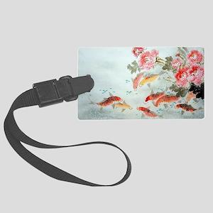 Koi fish Large Luggage Tag