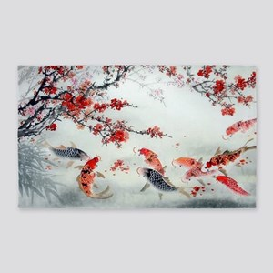 Koi fish 3'x5' Area Rug