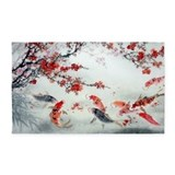 Koi fish 3x5 Rugs