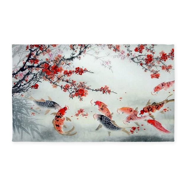 Koi Fish 3 X5 Area Rug By Listing Store 124368888