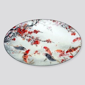 Koi fish Sticker (Oval)