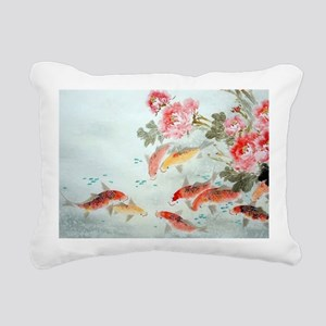 Koi fish Rectangular Canvas Pillow