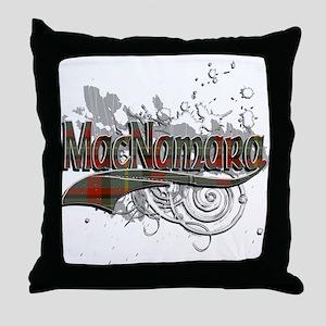 MacNamara Tartan Grunge Throw Pillow