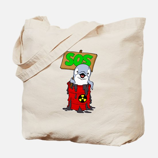 save the dolphins from the poluted water.png Tote
