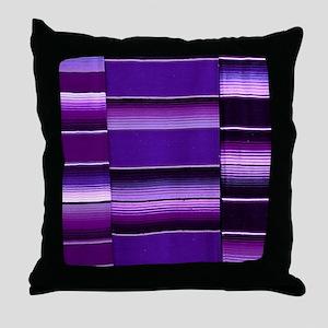 Purple serape Throw Pillow