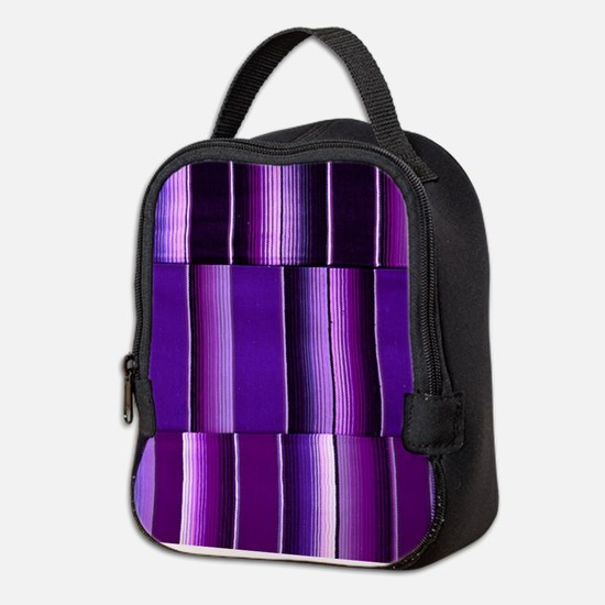 Purple serape Neoprene Lunch Bag