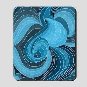 Blue Microchip Mousepad