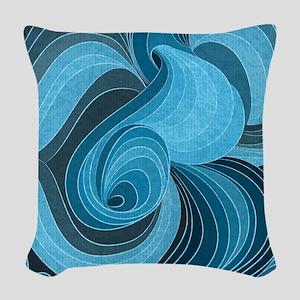 Blue Microchip Woven Throw Pillow