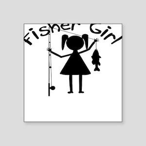 fisher girl 4 white Sticker
