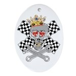 Race Fashion.com Skull Oval Ornament