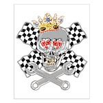 Race Fashion.com Skull Small Poster