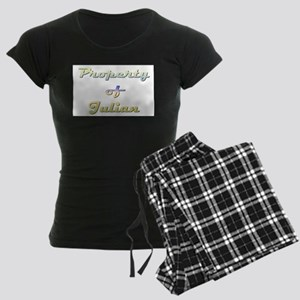 Property Of Julian Female Women's Dark Pajamas
