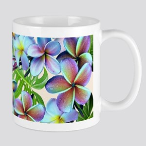 Rainbow Plumeria Pattern Mugs