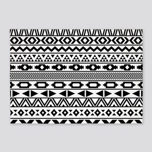 Tribal Pattern b/w 5'x7'Area Rug