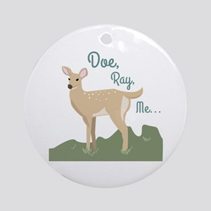 Doe Ray, Me... Ornament (Round)