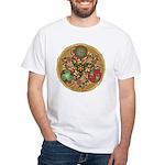 Celtic Reindeer Shield White T-Shirt