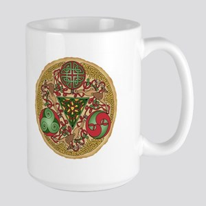 Celtic Reindeer Shield Large Mug