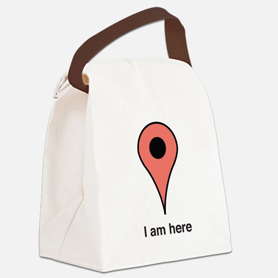 I am Here Canvas Lunch Bag