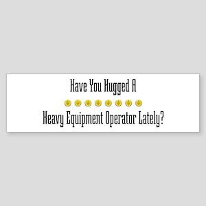 Hugged Heavy Equipment Operator Bumper Sticker