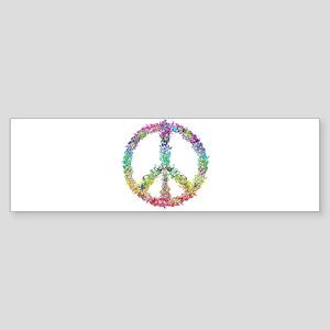 Peace of Flowers Bumper Sticker