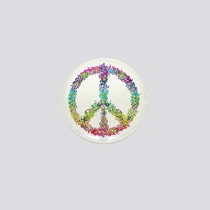 Peace of Flowers Mini Button