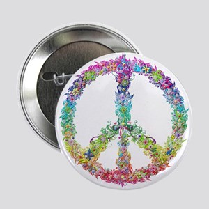 """Peace of Flowers 2.25"""" Button (10 pack)"""