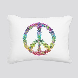 Peace of Flowers Rectangular Canvas Pillow