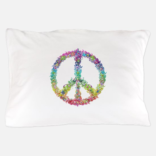Peace of Flowers Pillow Case