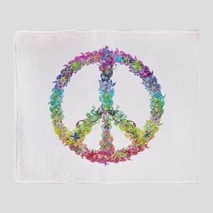 Peace of Flowers Throw Blanket