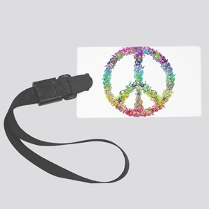 Peace of Flowers Luggage Tag