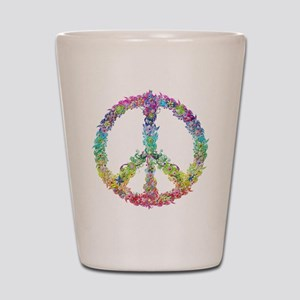 Peace of Flowers Shot Glass