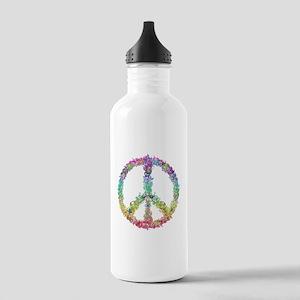 Peace of Flowers Water Bottle