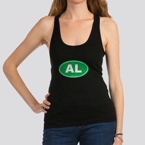 Alabama AL Euro Oval GREEN Racerback Tank Top
