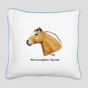 Norwegian Fjord Square Canvas Pillow