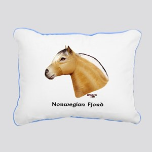 Norwegian Fjord Rectangular Canvas Pillow
