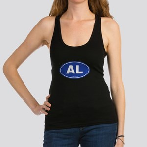 Alabama AL Euro Oval BLUE Racerback Tank Top