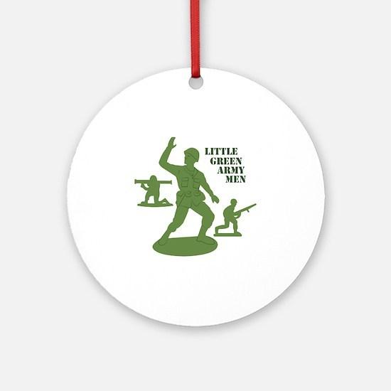Green Army Men Ornament (Round)