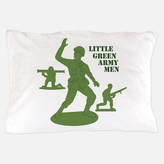 Green Army Men Pillow Case