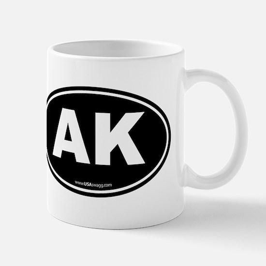 Alaska AK Euro Oval Mug