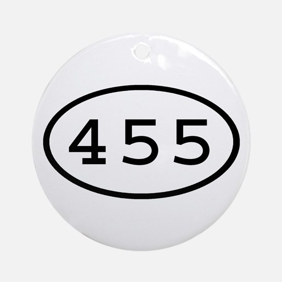455 Oval Ornament (Round)