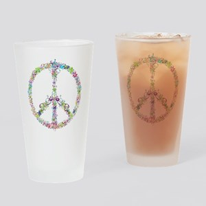 Peace of Flowers Drinking Glass