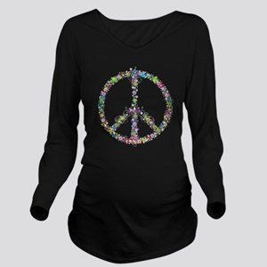 Peace of Flowers Long Sleeve Maternity T-Shirt