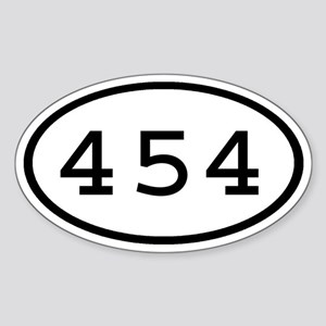 454 Oval Oval Sticker