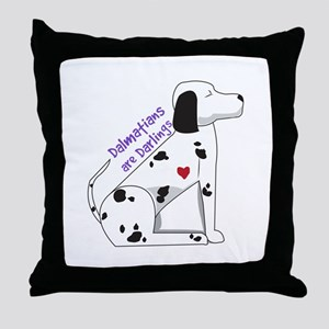 Darling Dalmations Throw Pillow