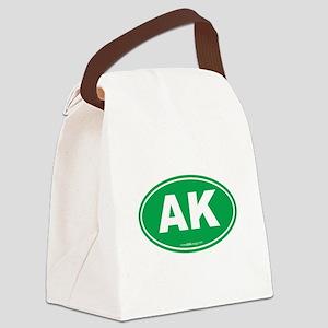 Alaska AK Euro Oval Canvas Lunch Bag
