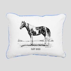 Paint Horse Rectangular Canvas Pillow