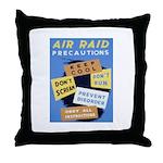 Air Raid War Poster Throw Pillow